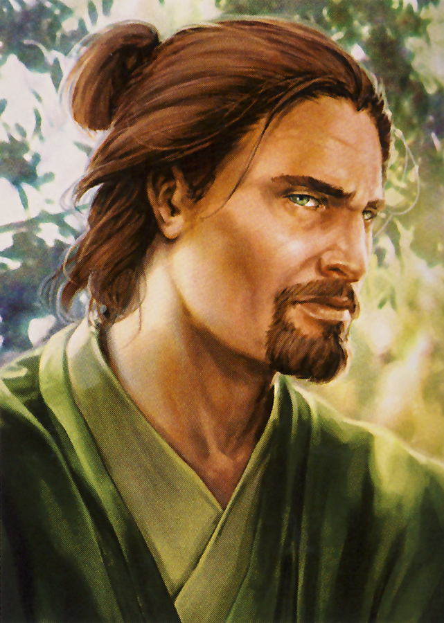 """A Jedi's strength flows form the Force...and also a little bit his man-bun."""