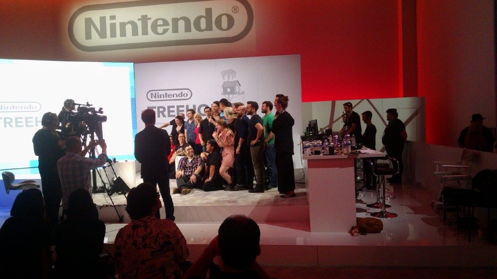 Nintendo Tree House members pretending to be happy with themselves.