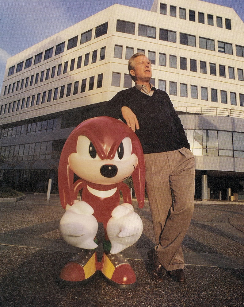 Tom Kalinske and Knuckles circa 1994.