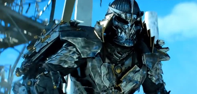Here's what Shredder actually looks like in this film.